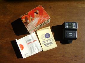 Flash Sunpak Mx 114 Antigo Funcionando Com Caixa