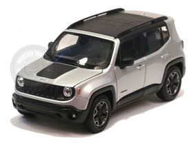 Miniatura Jeep Renegade Trailhawk Prata 1/24 Welly
