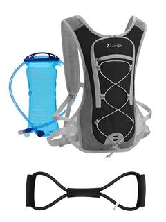 Mochila De Hidratação Preta Refil Água 2l Bike + Elástico 8