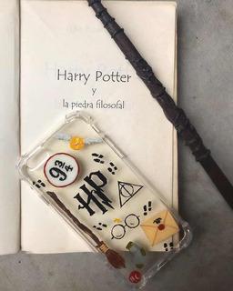 Funda Anti-shock Personalizada Harry Potter Pintada A Mano