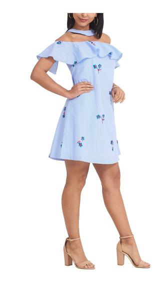Vestido Azul Eva Moda Primavera Verano