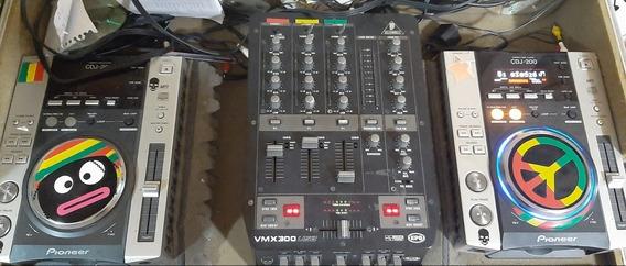 Cdj 200 Mixer Beringher Mesa Dj E Case