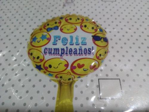 Pack Por 10 Globo Redondo O Cuadrado Feliz Cumple 22 Cm