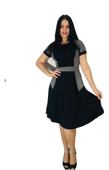 Vestido Feminino Midi Godê Kit Com 5 Peças Atacado