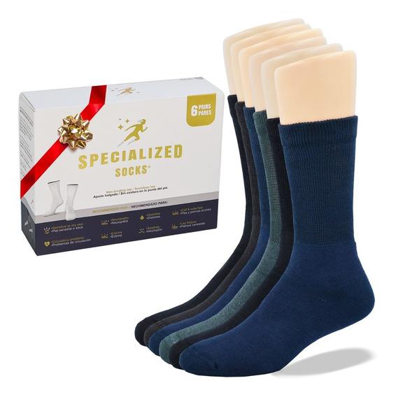 Calidad Y Comodidad Premium Calcetin Para Diabetico 6 Pares.