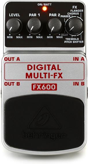 Pedal Digital Multi Fx Para Guitarra - Fx600 Behringer