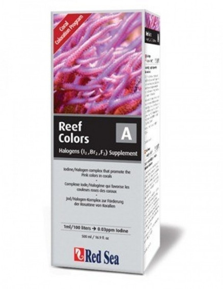 Red Sea Coral Colors Kit A/b/c/d 4 X 500ml