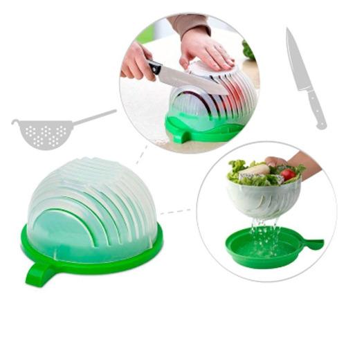 Imagem 1 de 6 de Fatiador Cortador De Saladas Bowl - Prana Branco/ Verde
