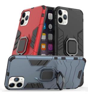 Funda iPhone Protector Uso Rudo Case Anillo Stand Magnetico