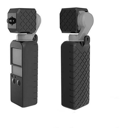 Case Silicone Para Dji Osmo Pocket + Protetor De Lente