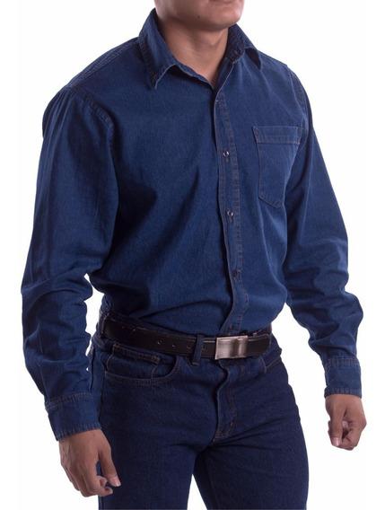 Camisa De Mezclilla Industrial Para Trabajo, Uso Rudo