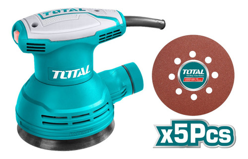 Lijadora Orbital Total /320w/12000rpm/+ 5 Lijas De 125mm