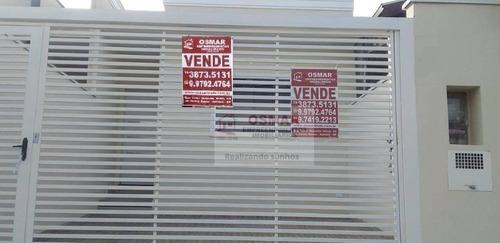 Casa Com 2 Dormitórios À Venda, 63 M² Por R$ 245.000,00 - Parque Itália (nova Veneza) - Sumaré/sp - Ca1192
