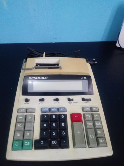 Máquina De Calcular De Mesa + 10 Bobinas Grátis
