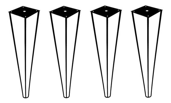 4 Pé Hairpin Leg 60cm Triplo Industrial Mesa Aparador 1/4