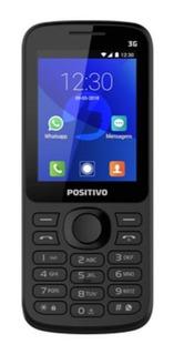 Celular Para Idoso Com Botão Whatsapp P70 Positivo Preto