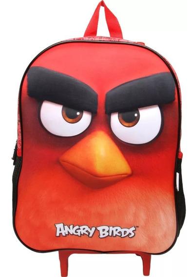 Kit Mochilete Escolar 3d Angry Birds +lancheira Abm801603