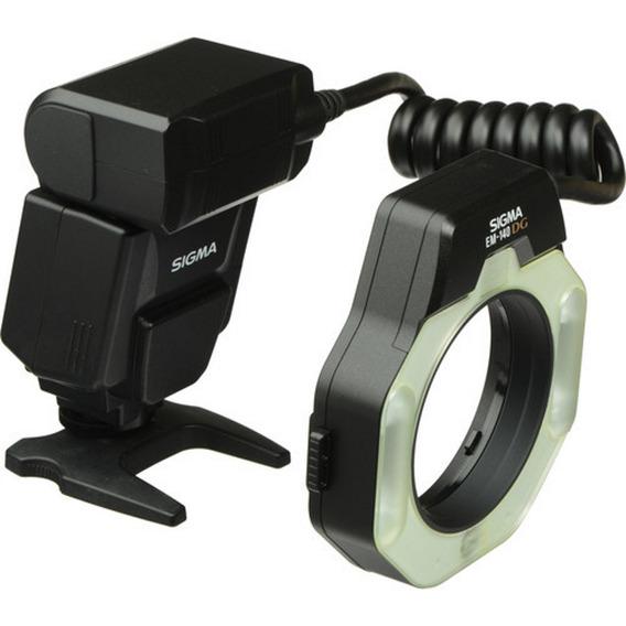Flash Circular Sigma Em-140 Dg Para Nikon + Recibo Garantia