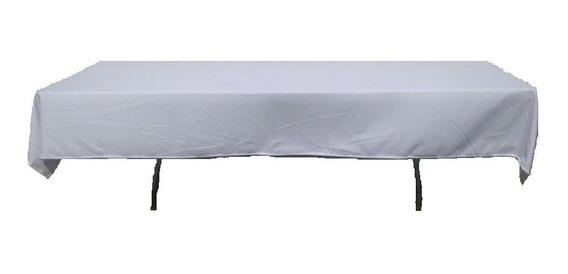 Mantel Blanco Para Tablon Rectangular De 1.8 Mts. 10 Piezas