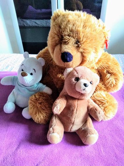 Kit 3 Ursos Pelucia Usado Pooh Importado