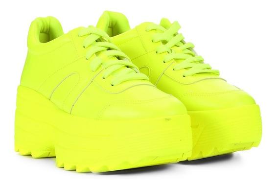Tênis Chunky Sneakers Flatform Lima Branco Zatz Damannu