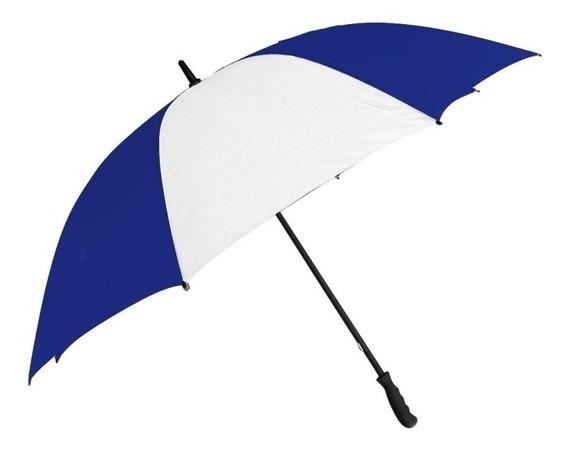 Paraguas Grande Golf Azul Francia Con Blanco