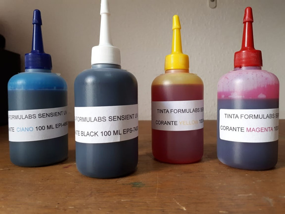 Kit 04 Tinta Formulabs Sensient Corante Uv