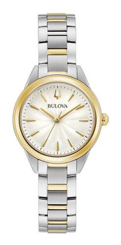 Imagen 1 de 5 de 98l277 Reloj Bulova Sutton Cuarzo Plateado/dorado