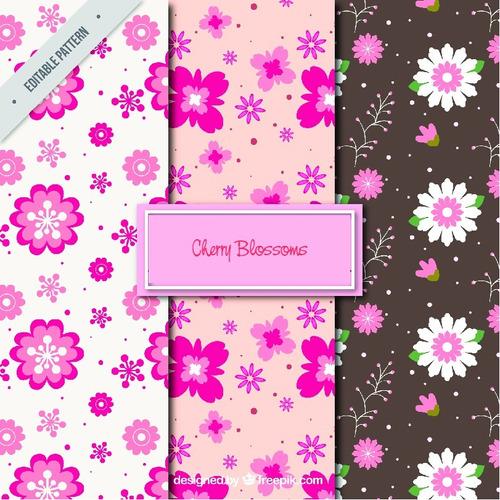 Pack Fondos Vectorizados Cherry Blossoms Flores Cerezo .ai