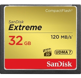 Cartão Compact Flash Cf 32gb Sandisk Extreme 120mb/s 800x