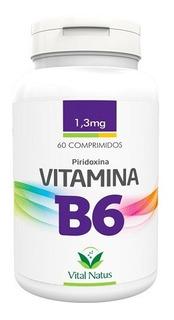Vitamina B6 - Piridoxina 60 Comprimidos 1,3mg - Vital Natus