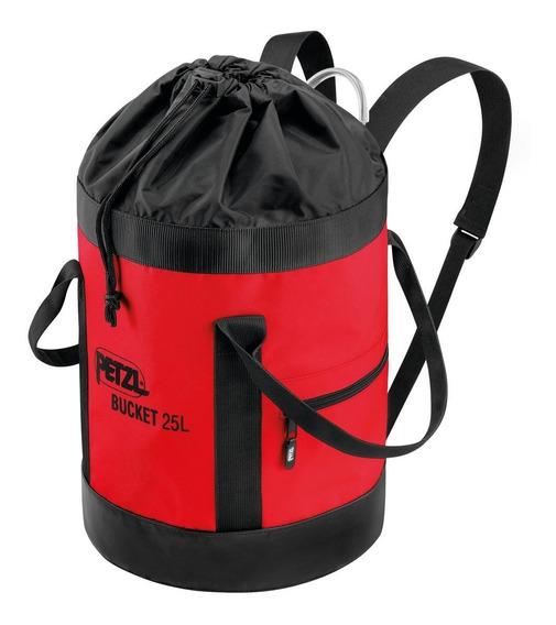 Bolso Para Cuerda Petzl Bucket Rojo 25lts