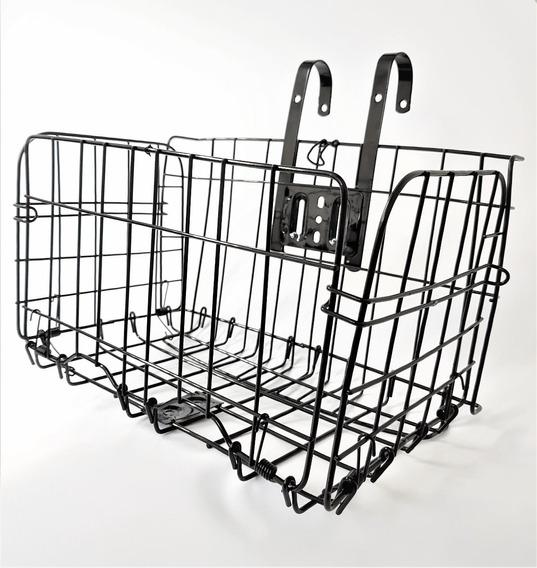 Canasta Plegable De Acero Reforzado Para Bicicleta