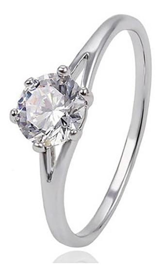 Anillo Compromiso Para Mujer: Oro Blanco Y Diamante