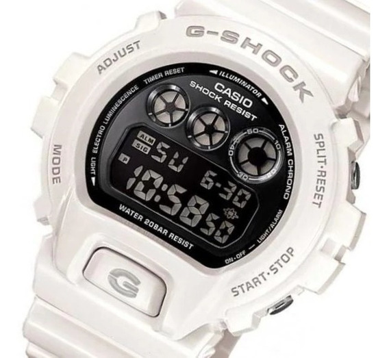 Relógio Masculino Casio G-shock Digital Dw6900nb7dr - Branco