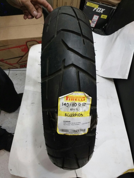 Pneu Pirelli 140/80 R 17 Scorpion Trail Com Detalhes