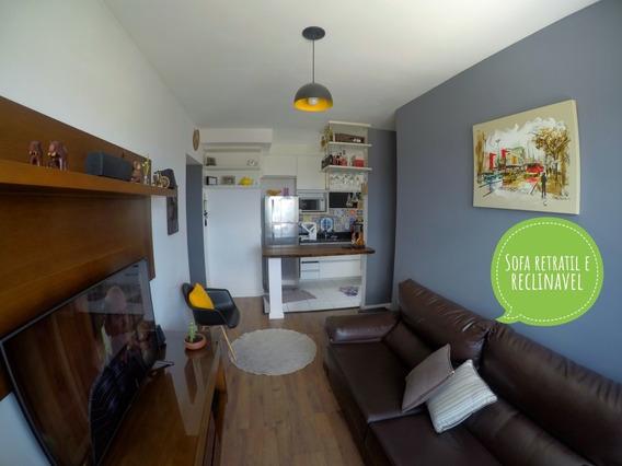 Apartamento 45m²; 2quartos; 1vaga; Todo Mobiliado; 27º Andar