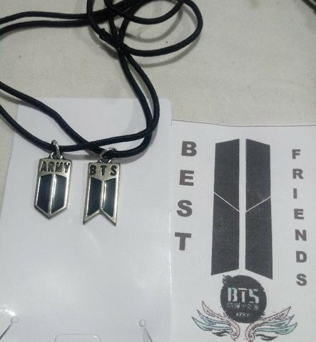 Cordão Da Amizade Bts K-pop Bangtan Boys Army Logo Casal