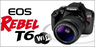 Camara Canon T6 Wifi