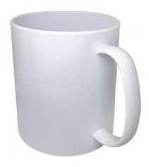36 Canecas Plastica Sublimatica 325ml Aaa Extra Branca
