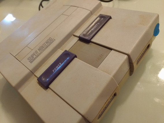 Super Nintendo Snes Com 1 Controle + 15 Jogos A Escolha