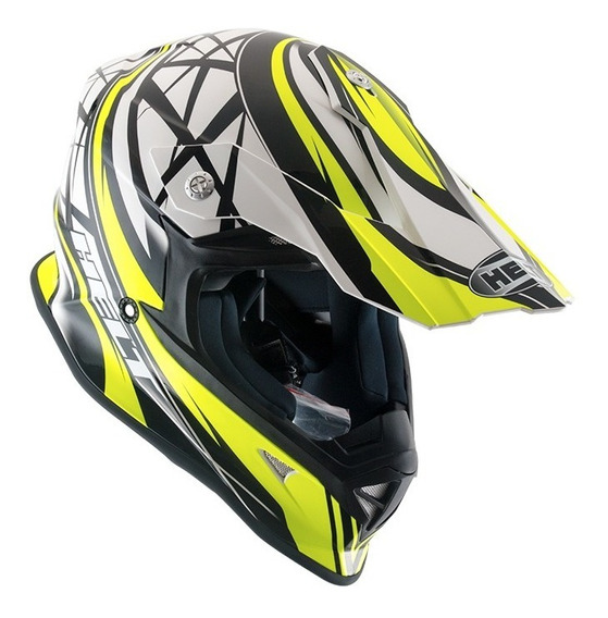 Capacete Motocross Helt Cross Mx Neon