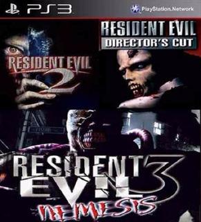 Resident Evil:1+ 2+ 3+ Clásicos De Ps1 / Ps3 Digital