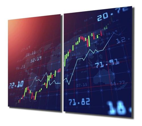 Quadro Decoração Grande Investidor Trader Candles Forex Bmf