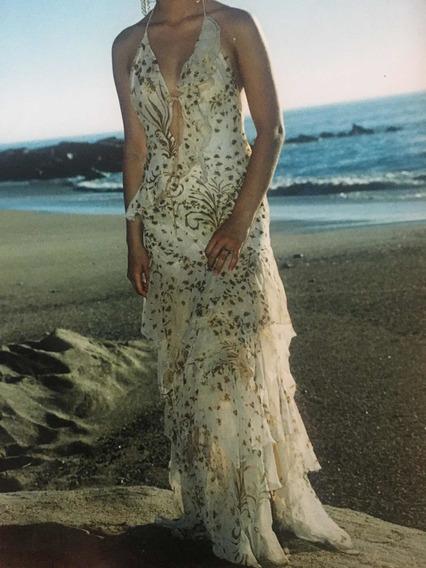 Vestido Largo Fiesta Formal Elegante Maria Vazquez