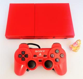 Consola Play Station 2 Slim Ps2 + Juego * Mundo Abierto Vg *