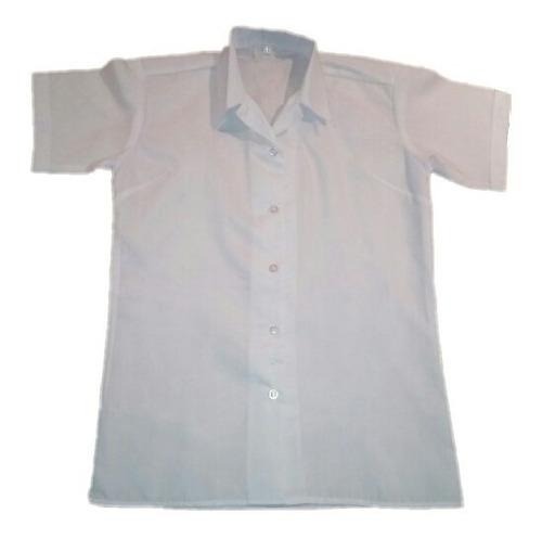 Imagen 1 de 1 de Blusa Blanca Escolar De Niña Manga Corta Oferta