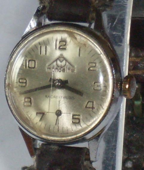Relógio Antigo - Mondaine - Corda Manual - Swiss - 2,1 Cm