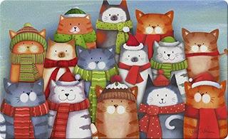 Toland Home Garden Cat Caroling 18 X 30 Pulgadas Decorativos