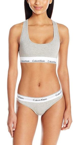 Calvin Klein Conjunto Bikini Y Bralette De Algodón Moderno